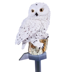 Solar White Owl Light