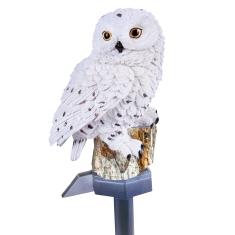 Solar White Owl Light