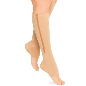 zippered compression stockings